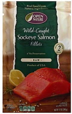 Open Nature Sockeye Salmon Fillets Wild Caught