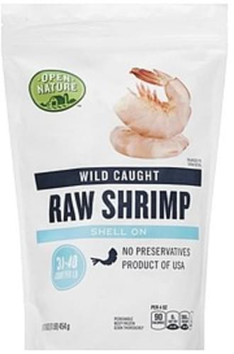 Open Nature Raw, Wild Caught, Shell On Shrimp - 16 oz