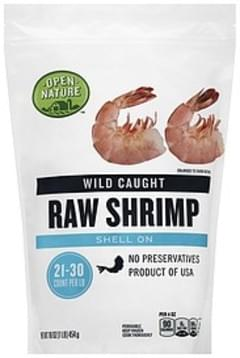 Open Nature Shrimp Raw, Wild Caught, Shell On