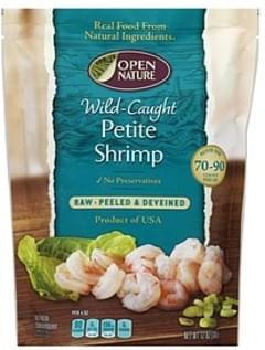 Open Nature Shrimp Raw, Wild-Caught, Peeled & Deveined, Petite