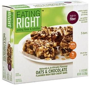 Eating Right Chewy Bars High Fiber, Oats & Chocolate