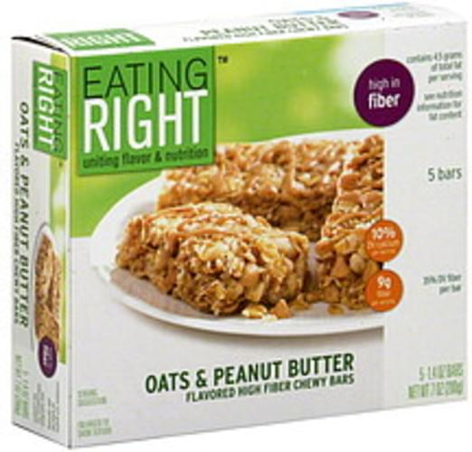 Eating Right High Fiber, Oats & Peanut Butter Chewy Bars - 5 ea