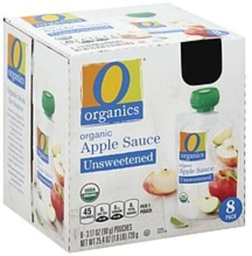 O Organics Organic, Unsweetened Apple Sauce - 8 ea