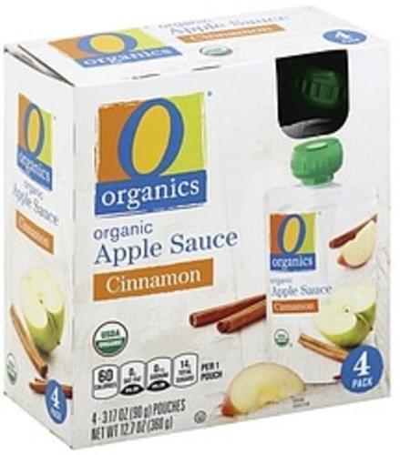 O Organics Organic, Cinnamon Apple Sauce - 4 ea