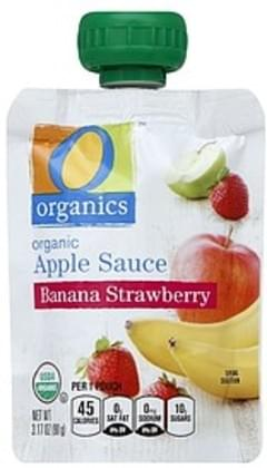 O Organics Apple Sauce Organic, Banana Strawberry