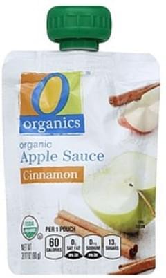 O Organics Apple Sauce Organic, Cinnamon