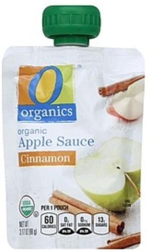 O Organics Organic, Cinnamon Apple Sauce - 3.17 oz