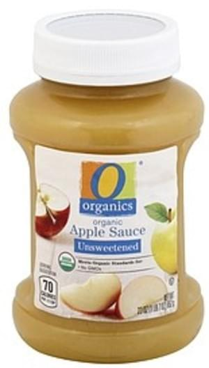 O Organics Organic, Unsweetened Apple Sauce - 23 oz