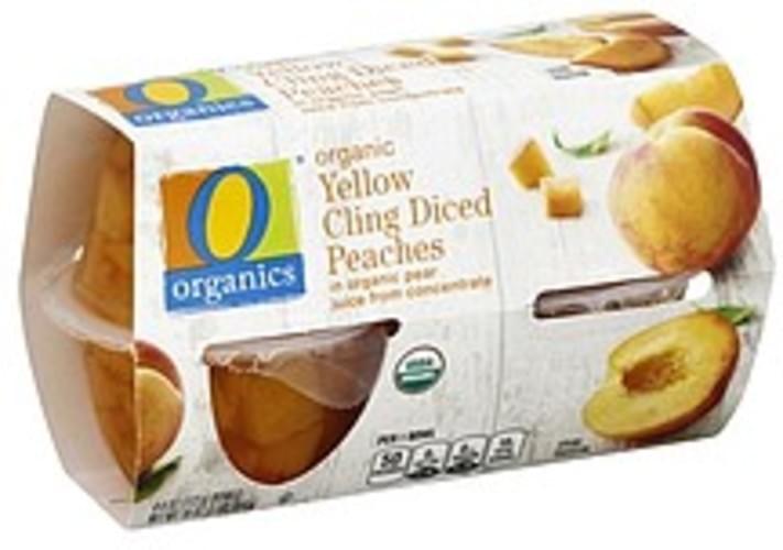 O Organics Organic, Yellow Cling, Diced Peaches - 4 ea
