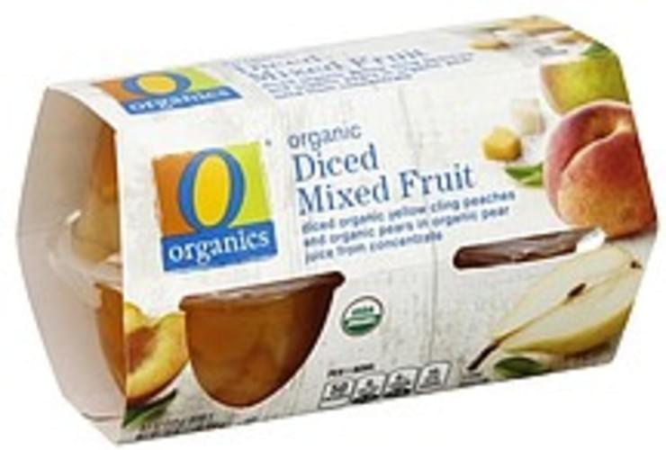 O Organics Organic, Diced Mixed Fruit - 4 ea
