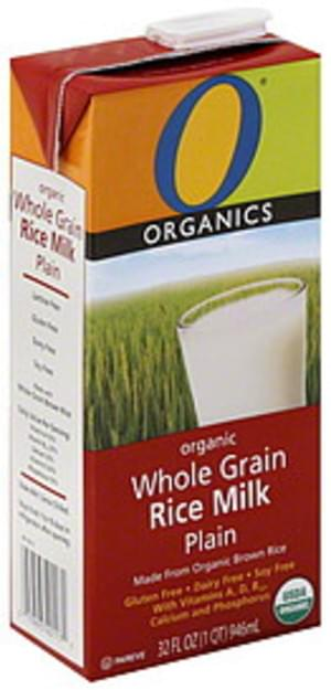 O Organics Whole Grain, Organic, Plain Rice Milk - 32 oz