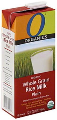 O Organics Rice Milk Whole Grain, Organic, Plain