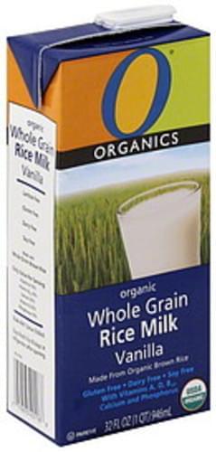 O Organics Rice Milk Whole Grain, Organic, Vanilla