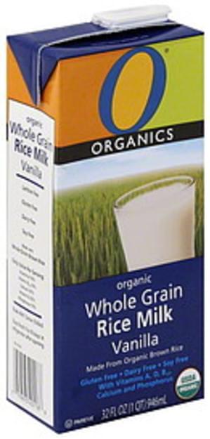O Organics Whole Grain, Organic, Vanilla Rice Milk - 32 oz