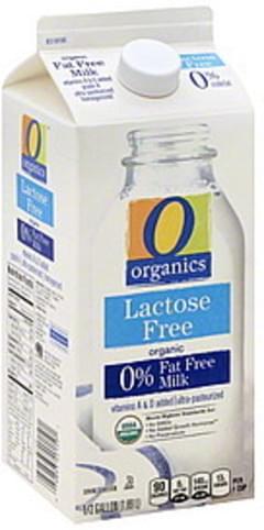 O Organics Milk Fat Free, Lactose Free, Organic, 0%