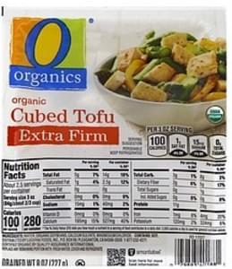 O Organics Tofu Organic, Extra Firm, Cubed