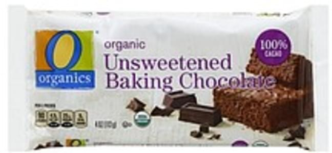 O Organics Baking Chocolate Organic, Unsweetened