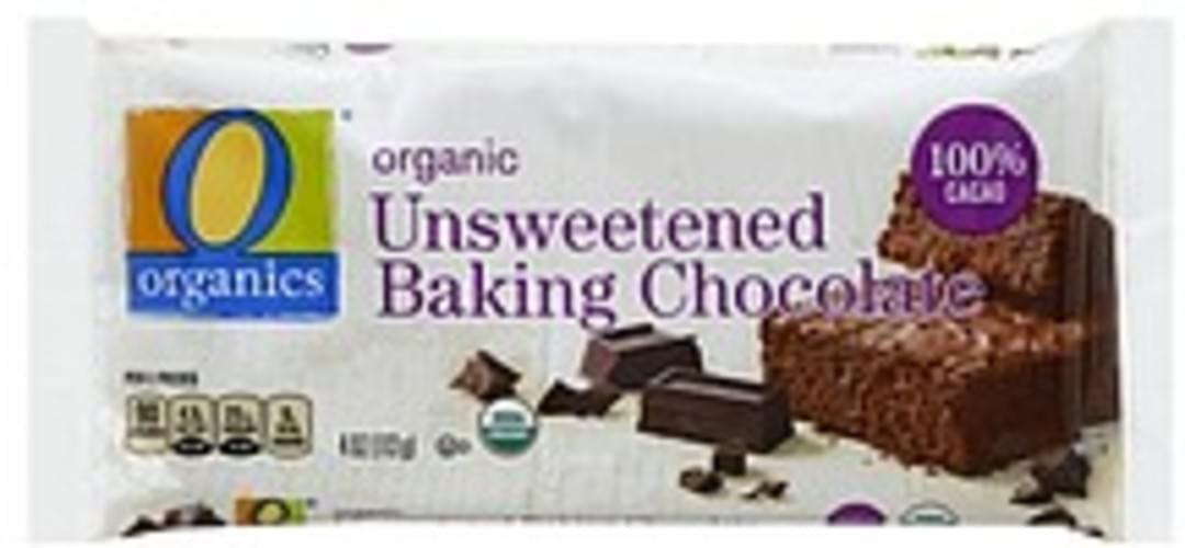 O Organics Organic, Unsweetened Baking Chocolate - 4 oz