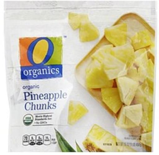 O Organics Organic, Chunks Pineapple - 16 oz