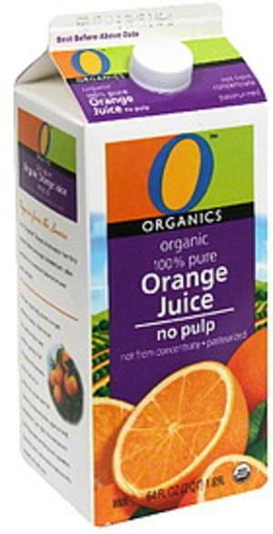 O Organics No Pulp Organic 100% Pure Orange Juice - 64 oz