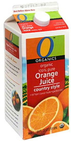 O Organics Country Style Organic 100% Pure Orange Juice - 64 oz