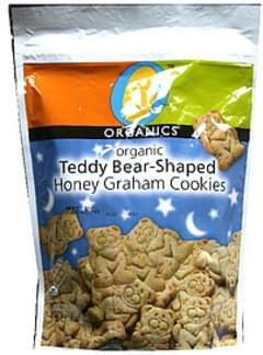 O Organics Organic Honey Graham Cookies Teddy Bear-Shaped