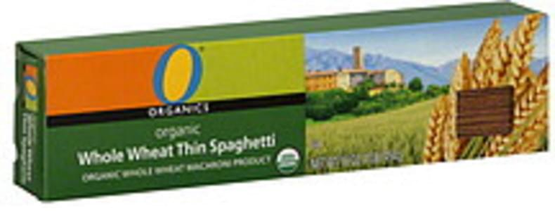 O Organics Spaghetti Whole Wheat, Thin, Organic