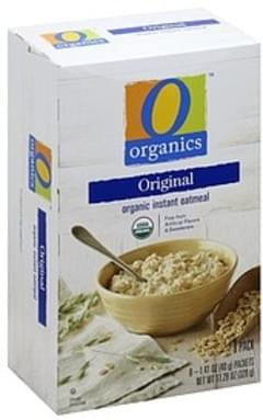 O Organics Oatmeal Instant, Organic, Original, 8 Pack