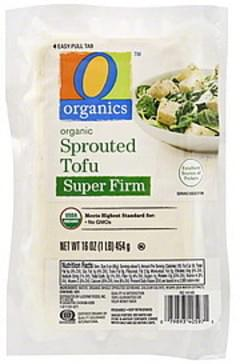 O Organics Tofu Sprouted, Super Firm, Organic