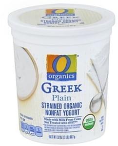 O Organics Yogurt Organic, Nonfat, Greek, Strained, Plain