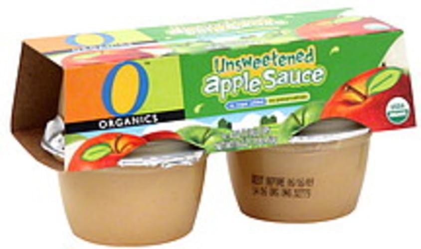 O Organics Unsweetened Apple Sauce - 4 ea