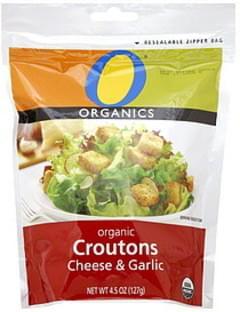 O Organics Croutons Organic, Cheese & Garlic