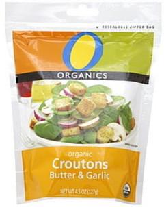 O Organics Croutons Organic, Butter & Garlic