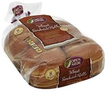 Open Nature Sandwich Rolls Wheat