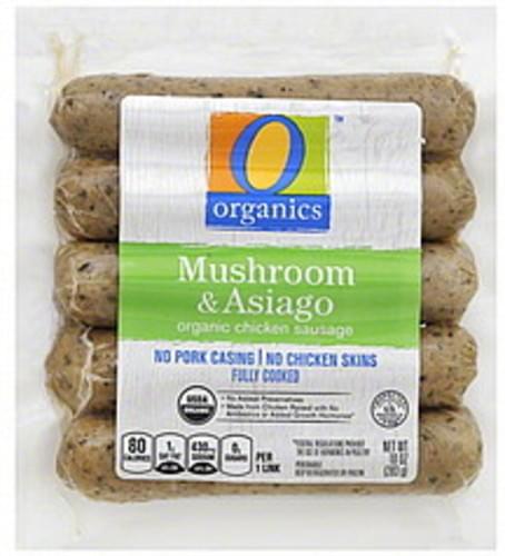 O Organics Organic, Mushroom & Asiago Chicken Sausage - 10 oz