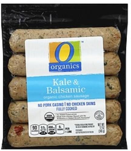 O Organics Organic, Kale & Balsamic Chicken Sausage - 12 oz
