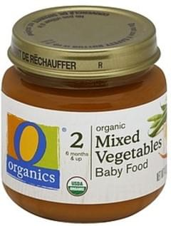 O Organics Baby Food Organic, Mixed Vegetables, 2 (6 Months & Up)