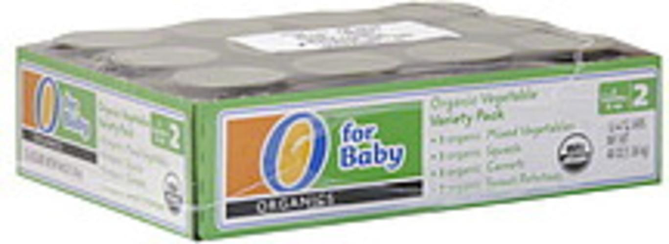 O Organics Organic Vegetable, stage 2 Vegetable Variety Pack - 12 ea