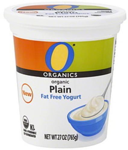 O Organics Fat Free, Organic, Plain Yogurt - 27 oz