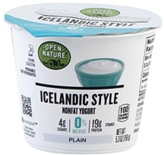 Open Nature Nonfat, Plain, Icelandic Style Yogurt - 5.3 oz