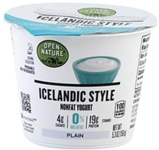 Open Nature Yogurt Nonfat, Plain, Icelandic Style