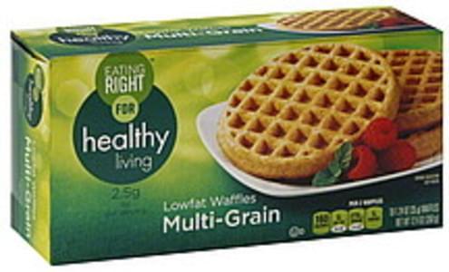 Eating Right Waffles Lowfat, Multi-Grain