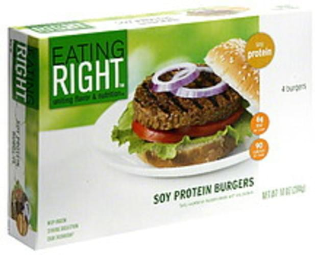 Eating Right Soy Protein Burgers - 4 ea