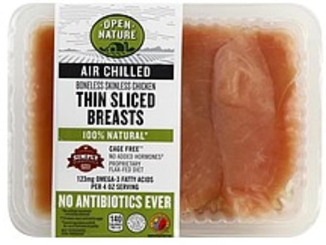 Open Nature Boneless & Skinless, Thin Sliced Chicken Breasts - 1 ea