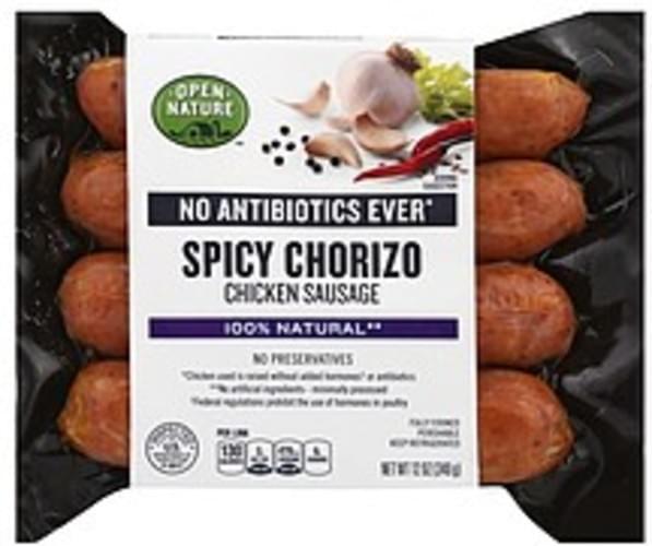 Open Nature Spicy Chorizo Chicken Sausage - 12 oz
