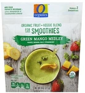 O Organics Organic Fruit + Veggie Blend for Smoothies Green Mango Medley