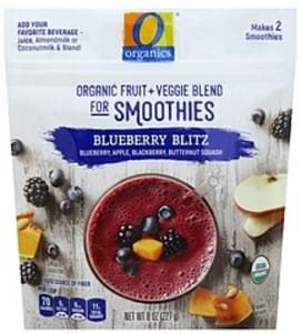 O Organics Organic Fruit + Veggie Blend for Smoothies Blueberry Blitz