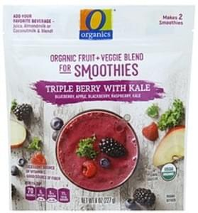 O Organics Organic Fruit + Veggie Blend for Smoothies Triple Berry with Kale