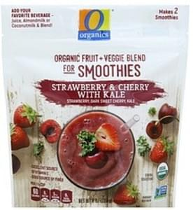 O Organics Fruit + Veggie Blend for Smoothies Strawberry & Cherry with Kale