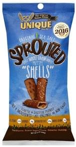 Unique Pretzel Shells 100% Whole Grain Wheat, Sprouted, Original Sea Salt